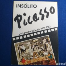 Cinéma: GUIA PUBLICITARIA: INSOLITO PICASSO. DOCUMENTAL. ANTONIO MERCERO. UNA PRODUCCIÓN DE NO-DO.. Lote 176490548