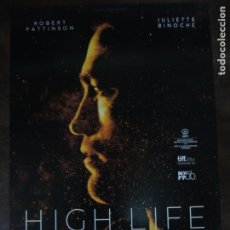 Cine: HIGH LIFE - GUIA PUBLICITARIA ORIGINAL - ROBERT PATTISON JULIETTE BINOCHE CLAIRE DENNIS. Lote 176673943