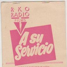 Cine: EL Y SU ENEMIGA. GUÍA RKO RADIO FILMS. (8 HOJAS). Lote 177253573