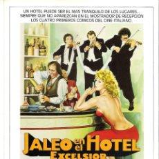 Cine: JALEO EN EL HOTEL EXCELSIOR-GUIA ORIGINAL DOBLE ESTRENO-ADRIANO CELENTANO-. Lote 177281165