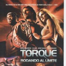Cine: TORQUE, RODANDO AL LIMITE. Lote 177594662