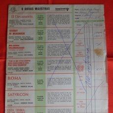 Cine: LISTA DE MATERIAL CB FILMS 1978, EL DECAMERON, ROMA, LENNY.... Lote 178137027