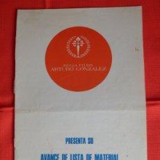 Cine: LISTA MATERIAL REGINA FILMS, ARTURO GONZALEZ, TEMPORADA 1974/75, CLEOPATRA, MATRIMONIO AL DESNUDO.... Lote 178137834
