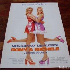 Cine: ROMY & MICHELE - MIRA SORVINO, LISA KUDROW, JANEANE GARAFALO - GUIA ORIGINAL BUENAVISTA AÑO 1997. Lote 194975027