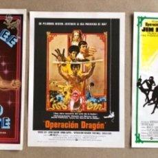 Cine: BRUCE LEE Y JIM KELLY - LOTE DE 3 GUÍAS ORIGINALES: OPERACIÓN DRAGÓN, CINTURÓN NEGRO,ÚLTIMO COMBATE. Lote 178318296
