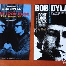 Cine: GUÍAS PROGRAMAS ORIGINALES JAPONESES DOCUMENTAL BOB DYLAN DON´T LOOK BACK. GIRA BRITÁNICA 1965. Lote 178907016