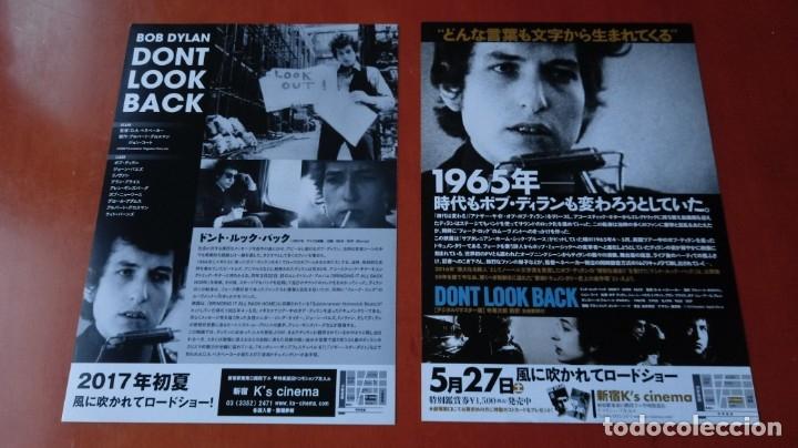 Cine: GUÍAS PROGRAMAS ORIGINALES JAPONESES DOCUMENTAL BOB DYLAN DON´T LOOK BACK. GIRA BRITÁNICA 1965 - Foto 2 - 178907016