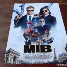 Cine: MIB INTERNATIONAL - CHRIS HEMSWORTH, TESSA THOMPSON, LIAM NEESON - GUIA ORIGINAL SONY 2019. Lote 178982731