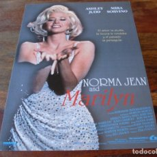 Cine: NORMA JEAN AND MARILYN - ASHLEY JUDD, MIRA SORVINO, JOSH CHARLES - GUIA ORIGINAL LAUREN AÑO 1997. Lote 179109786