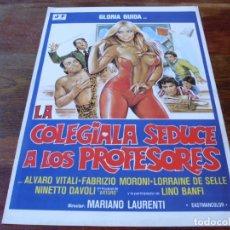 Cine: LA COLEGIALA SEDUCE A LOS PROFESORES - GLORIA GUIDA, ALVARO VITALI - GUIA ORIGINAL JF FILMS AÑO 1979. Lote 179110878