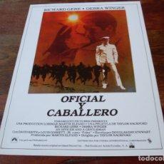 Cine: OFICIAL Y CABALLERO - RICHARD GERE, DEBRA WINGER, DAVID KEITH - GUIA ORIGINAL C.I.C AÑO 1982. Lote 179197058