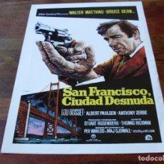 Cine: SAN FRANCISCO CIUDAD DESNUDA - WALTER MATTHAU, BRUCE DERN, LOU GOSSET - GUIA ORIGINAL REGIA AÑO 1974. Lote 179197177