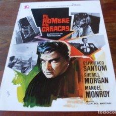 Cine: EL HOMBRE DE CARACAS - ESPARTACO SANTONI, SHERILL MORGAN - GUIA ORIGINAL BALCAZAR AÑO 1976. Lote 179197301