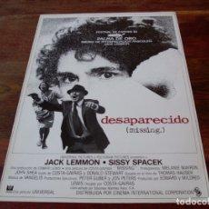 Cine: DESAPARECIDO MISSING - JACK LEMMON, SISSI SPACEK - DIR. COSTA GAVRAS - GUIA ORIGINAL C.I.C AÑO 1982. Lote 179197460