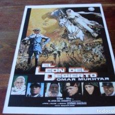 Cine: EL LEON DEL DESIERTO - OLIVER REED,IRENE PAPAS,ANTHONY QUINN - GUIA ORIGINAL IZARO AÑO 1980. Lote 179332162