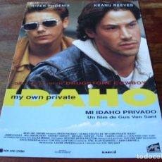 Cine: MI IDAHO PRIVADO - KEANU REEVES, RIVER PHOENIX - DIR. GUS VAN SANT - GUIA ORIGINAL ALMAGESA AÑO 1991. Lote 179332392