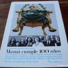Cine: MAMA CUMPLE 100 AÑOS - RAFAELA APARICIO, F.F.GOMEZ - DIR.CARLOS SAURA - GUIA ORIGINAL C.I.C AÑO 1979. Lote 179332600