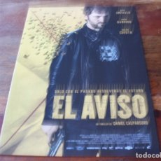 Cine: EL AVISO - RAUL AREVALO,AURA GARRIDO,BELEN CUESTA, D. CALPARSORO - GUIA ORIGINAL DEAPLANETA AÑO 2018. Lote 179333415