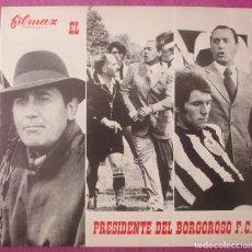 Cine: GUIA PUBLICITARIA, CINE, PRESIDENTE DEL BORGOROSO F.C, ALBERTO SORDI, G414. Lote 179515200