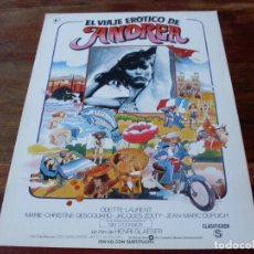 Cine: EL VIAJE EROTICO DE ANDREA - ODETTE LAURENT, JACQUES ZOLTY - GUIA ORIGINAL PROCINES AÑO 1979. Lote 179547701