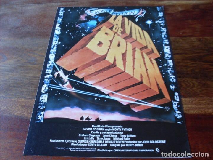LA VIDA DE BRIAN - ERIC IDLE, JOHN CLEESE, MICHAEL PALIN, TERRY JONES - GUIA ORIGINAL C.I.C AÑO 1979 (Cine - Guías Publicitarias de Películas )