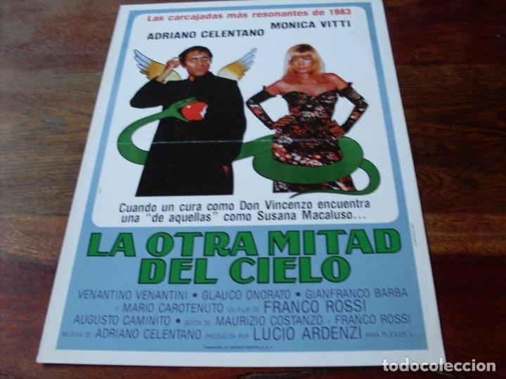 LA OTRA MITAD DEL CIELO - ADRIANO CELENTANO, MONICA VITTI - GUIA ORIGINAL WARNER AÑO 1983 (Cine - Guías Publicitarias de Películas )
