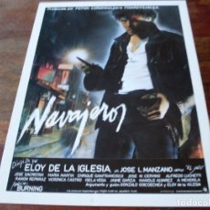 Cine: NAVAJEROS - JOSE L. MANZANO,PEPE SACRISTAN - DIR. ELOY DE LA IGLESIA - GUIA ORIGINAL C.I.C AÑO 1980. Lote 179548687