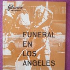 Cine: GUIA PUBLICITARIA, CINE, FUNERAL EN LOS ANGELES, JEAN-LOUIS TRINTIGNANT, G431. Lote 179963371