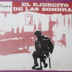 Cine: GUIA PUBLICITARIA, CINE, EL EJERCITO DE LAS SOMBRAS, LINO VENTURA, PAUL MEURISSE, G435. Lote 179963908