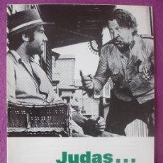 Cine: GUIA PUBLICITARIA, CINE, JUDAS... ¡TOMA TUS MONEDAS!, GEORGE MARTIN, , G438. Lote 179964175