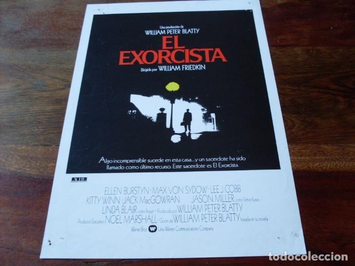 EL EXORCISTA - ELLEN BURDTYN, MAX VON SIDOW, LINDA BLAIR - GUIA ORIGINAL WARNER AÑO 1984 (Cine - Guías Publicitarias de Películas )