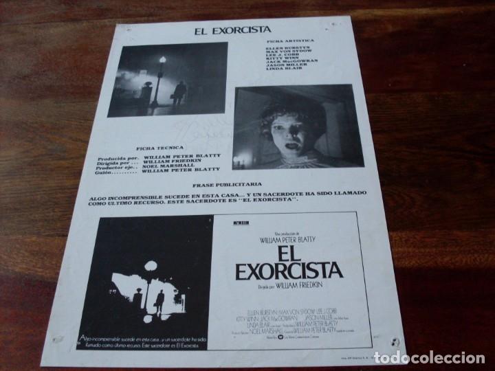 Cine: el exorcista - ellen burdtyn, max von sidow, linda blair - guia original warner año 1984 - Foto 2 - 180034263