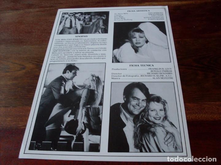 Cine: mi novia es una extraterrestre - dan aykroyd, kim basinger - guia original columbia año 1988 - Foto 2 - 180034956