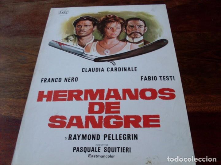 HERMANOS DE SANGRE - CLAUDIA CARDINALE, FRANCO NERO, FABIO TESTI - GUIA ORIGINAL CEA AÑO 1975 (Cine - Guías Publicitarias de Películas )
