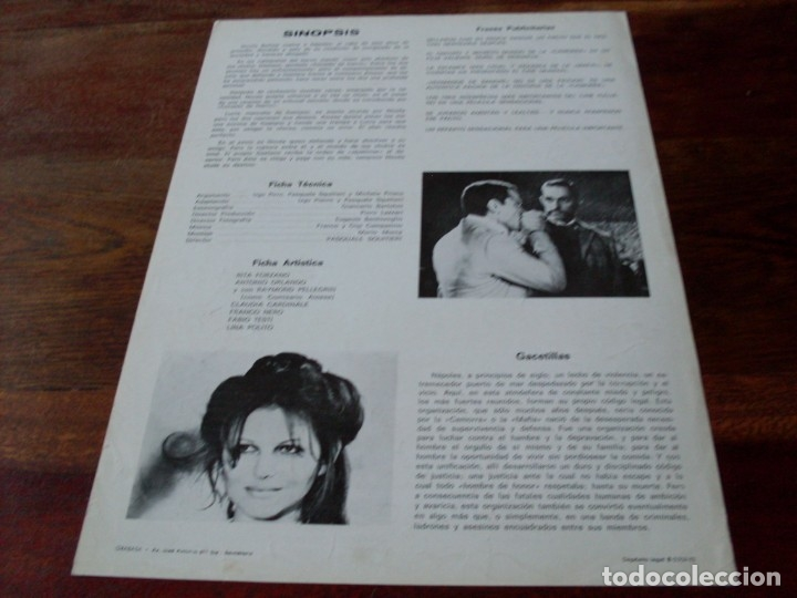 Cine: hermanos de sangre - claudia cardinale, franco nero, fabio testi - guia original cea año 1975 - Foto 2 - 180035041