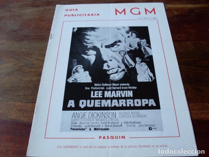 A QUEMARROPA - LEE MARVIN, ANGIE DICKINSON - DIR. JOHN BOORMAN - GUIA ORIGINAL MGM AÑO 1968 (Cine - Guías Publicitarias de Películas )