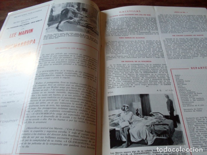 Cine: a quemarropa - lee marvin, angie dickinson - dir. john boorman - guia original mgm año 1968 - Foto 2 - 180035138