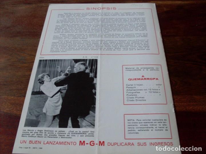 Cine: a quemarropa - lee marvin, angie dickinson - dir. john boorman - guia original mgm año 1968 - Foto 5 - 180035138