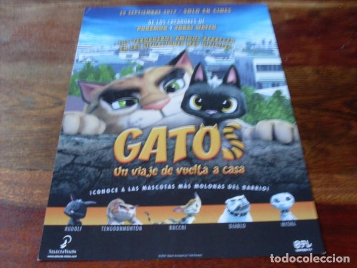 GATOS UN VIAJE DE VUELTA A CASA - ANIMACION - GUIA ORIGINAL SELECTA VISION AÑO 2017 (Cine - Guías Publicitarias de Películas )