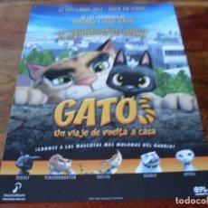 Cine: GATOS UN VIAJE DE VUELTA A CASA - ANIMACION - GUIA ORIGINAL SELECTA VISION AÑO 2017. Lote 180192173