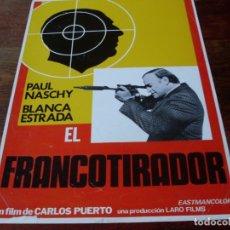 Cine: EL FRANCOTIRADOR - PAUL NASCHY, BLANCA ESTRADA, ELISA MONTES - GUIA ORIGINAL LARO FILMS AÑO 1978. Lote 180192367