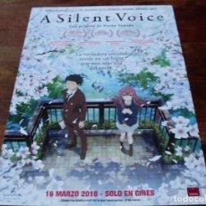Cine: A SOLENT VOICE - ANIMACION - NAOKO YAMADA - GUIA ORIGINAL SELECTA VISION AÑO 2018. Lote 180192441