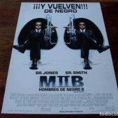 Cine: MEN IN BLACK II HOMBRES DE NEGRO II - WILL SMITH, TOMMY LEE JONES - GUIA ORIGINAL COLUMBIA AÑO 2002. Lote 180192908
