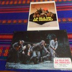 Cine: GUÍA PUBLICITARIA Y FOTOCROMO LA ISLA DEL DR. MOREAU. BURT LANCASTER MICHAEL YORK. 1977.. Lote 180193068