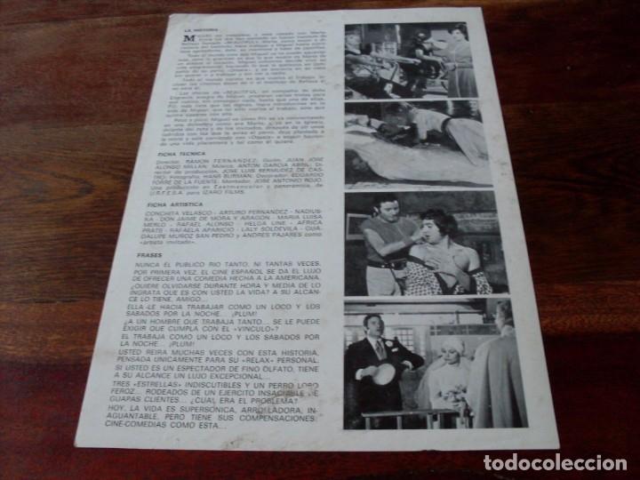 Cine: un lujo a su alcance - arturo fernandez, concha velasco, nadiuska - guia original izaro año 1975 - Foto 2 - 180193118