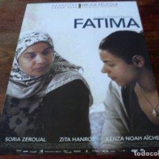 Cine: FATIMA - SORIA ZEROUAL, ZITA HANROT, MEHDI SENOUSSI - GUIA ORIGINAL SURTSEY FILMS AÑO 2015. Lote 180193331