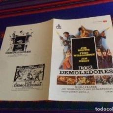 Cine: GUÍA PUBLICITARIA LOS DEMOLEDORES. DIFÍCIL. . Lote 180193400