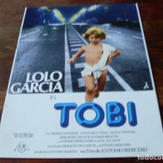 Cine: TOBI - LOLO GARCIA, MARIA CASANOVA, ANTONIO FERRANDIS - GUIA ORIGINAL CB FILMS AÑO 1978. Lote 180193513