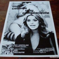 Cine: MUJER CASADA MUY COMPLACIENTE - GLORIA GUIDA, CARLO GIUFFRE - GUIA ORIGINAL REGIA FILMS AÑO 1976. Lote 180193745
