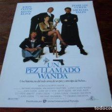 Cine: UN PEZ LLAMADO WANDA - JOHN CLEESE, KEVIN KLINE, JAMIE LEE CURTIS - GUIA ORIGINAL U.I.P AÑO 1988. Lote 180193971